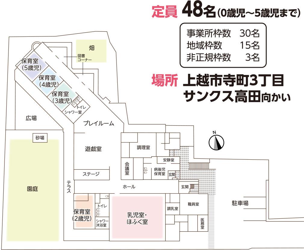 平面図:保育園 ベビーサンクスすくすく寺町